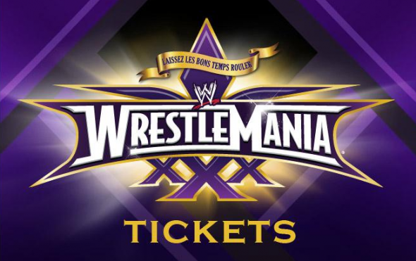 Wrestlemania will be live from New Orleans, LA on April 6th, 2014.