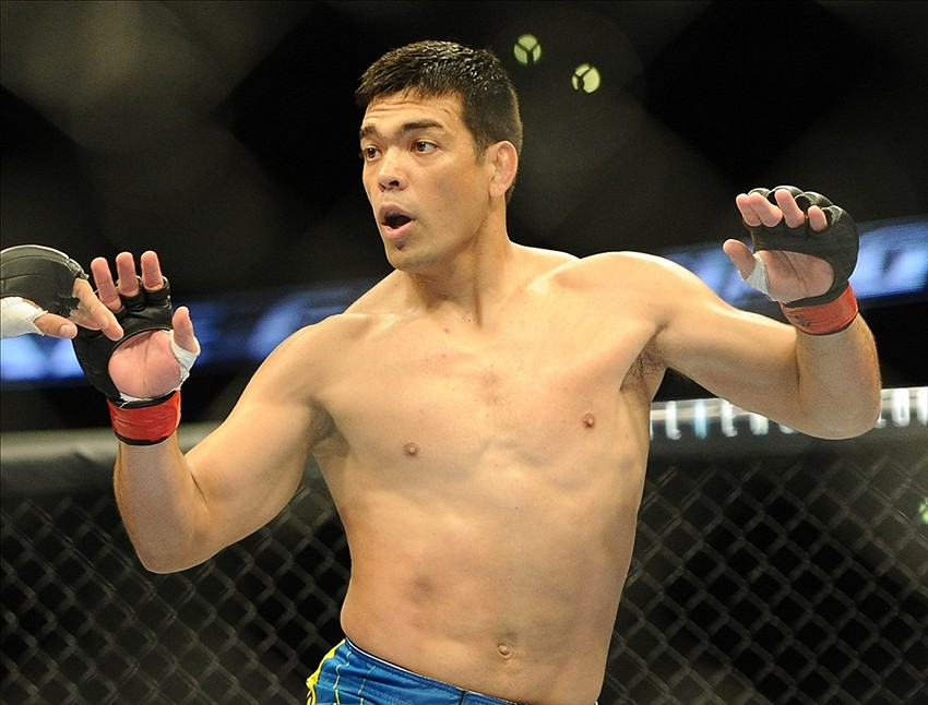 Feb 23, 2013; Anaheim, CA, USA; Lyoto Machida during his fight against Dan Henderson (not pictured) in their UFC heavyweight bout at the Honda Center. Mandatory Credit: Jayne Kamin-Oncea-USA TODAY Sports