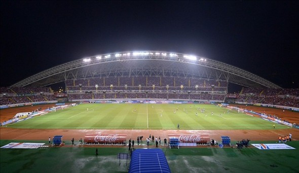 Sep 6, 2013; San Jose, COSTA RICA; General view of a FIFA World Cup Qualifier between the United States and Costa Rica at Estadio Nacional. Costa Rica defeated the United States 3-1. Mandatory Credit: Kirby Lee-USA TODAY Sports