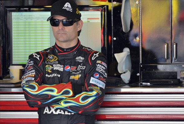 Jeff Gordon at Kansas Speedway