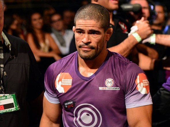 Oct 9, 2013; Barueri, Sao Paulo, Brazil; Rousimar Palhares reacts after defeating Mike Pierce (not pictured) during UFC Fight Night at Jose Correa Arena. Mandatory Credit: Jason Silva-USA TODAY Sports