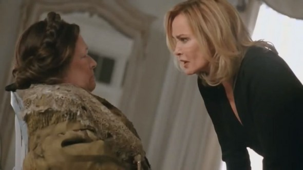Kathy Bates and Jessica Lange as Madame Delphine LaLaurie and Fiona Goode in Episode 2 of 'American Horror Story: Coven'. Photo Credit: FX