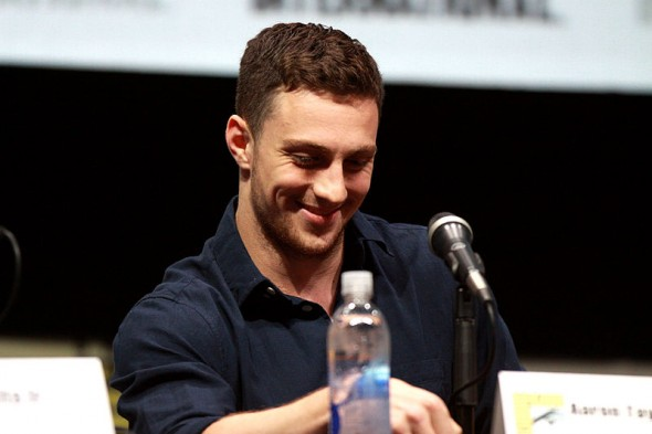 "Aaron Taylor-Johnson speaking at the 2013 San Diego Comic Con International, for ""Kick-Ass 2"", at the San Diego Convention Center in San Diego, California. Photo Credit: Gage Skidmore"