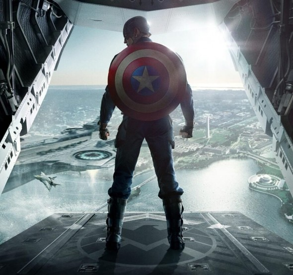 Chris Evans as Steve Rogers/Captain America in 'Captain America: The Winter Soldier' promotional poster. Photo Credit: Marvel