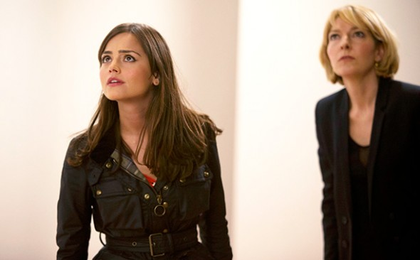 Jenna Coleman as Clara and Jemma Redgrave as Kate Stewart in the 'Doctor Who' 50th Anniversary Special 'The Day of the Doctor' Photo Credit: BBC