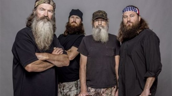 Phil, Jase, Si, and Willie Robertson from the A&E Series 'Duck Dynasty' Photo Credit: A&E
