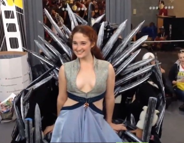 Cosplayer Molly Glover as Margaery Tyrell at NYCC. Photo Credit: IGN