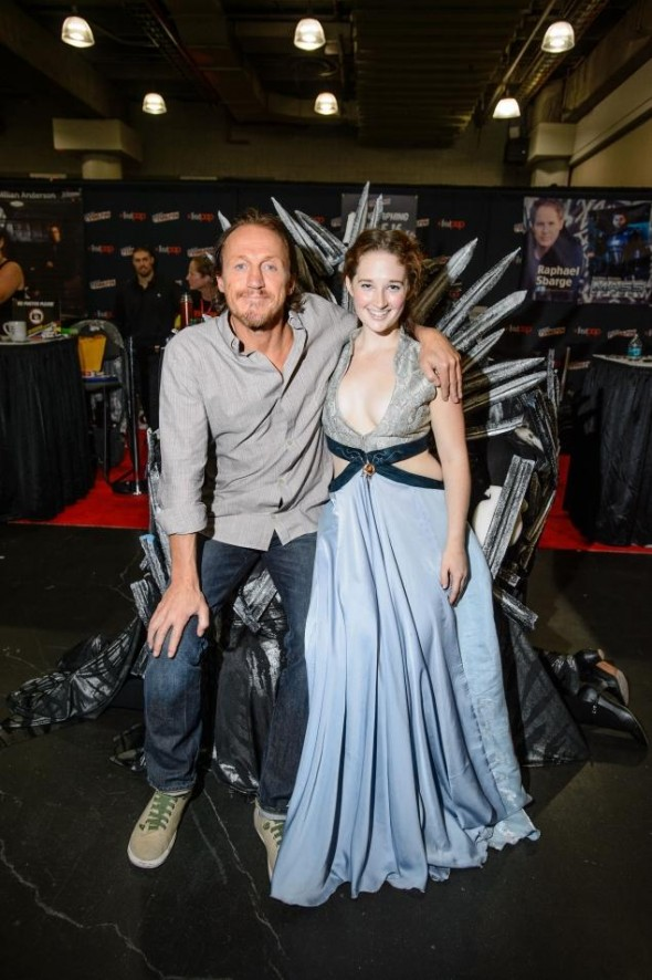 20-year-old Molly Glover as Margaery Tyrell with Game of Thrones Star Jerome Flynn. Photo Credit: BRYAN PACE FOR NEW YORK DAILY NEWS