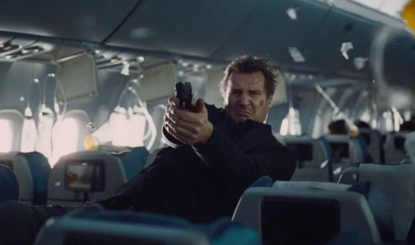 Liam Neeson as Agent Bill Marks in the film 'Non-Stop'. Photo Credit: Universal