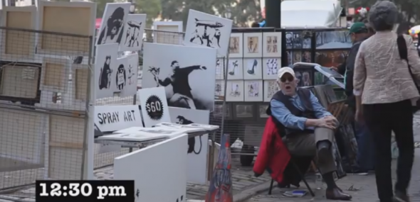 Banksy sells artwork in Central Park