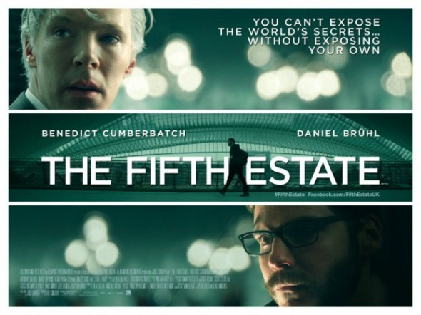 Movie Poster for the film 'The Fifth Estate' Photo Credit: DreamWorks Pictures