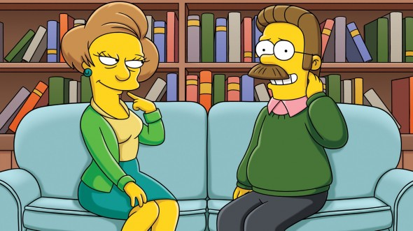 Edna Krabappel and Ned Flanders in 'The Simpsons' Photo Credit: Fox