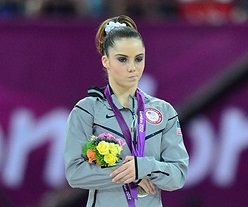McKayla Maroney debuted her 'not impressed' face on the podium at the 2012 Summer Olympics in London, but it turns out she has been rocking the look since the young age of 8. Photo Credit: USA Today Sports