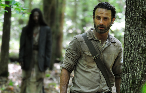 Andrew Lincoln as Rick Grimes in Season 4 of 'The Walking Dead' Photo Credit: AMC