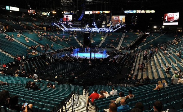 Jul 6, 2013; Las Vegas, NV, USA; General view of the MGM Grand Garden Arena prior to UFC fights. Mandatory Credit: Jayne Kamin-Oncea-USA TODAY Sports