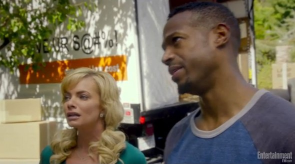 "Marlon Wayans and Jaime Pressley as Malcolm and Megan in ""A Haunted House 2."" Photo Credit: Entertainment Weekly"