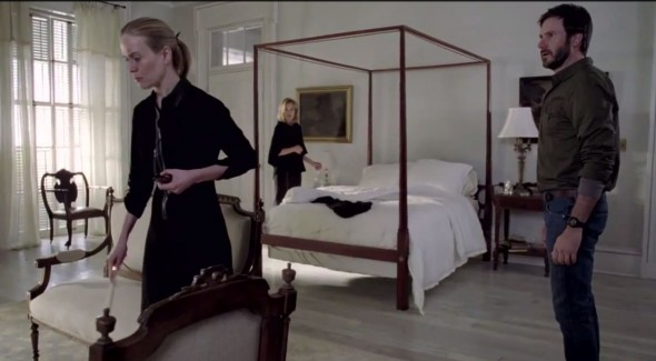 Sarah Paulson, Jessica Lange, and Josh Hamilton as Cordelia Foxx, Fiona Goode, and Hank Foxx in Episode 6 of 'American Horror Story: Coven' entitled 'The Axeman Cometh'. Photo Credit: FX
