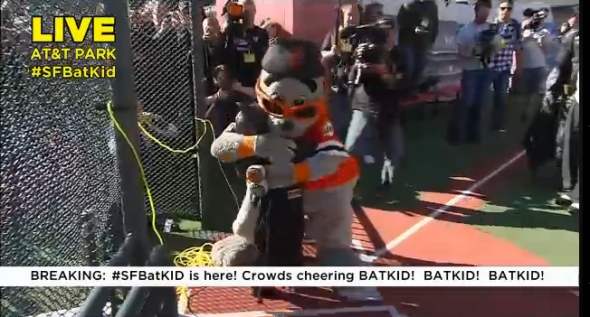 BatKid rescues Lou Seal in San Francisco
