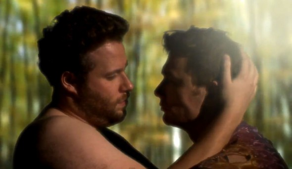 Seth Rogen and James Franco in their Parody of Kanye West's Video 'Bound 2' of which they entitled 'Bound 3.' Photo Credit: Seth Rogen and James Franco