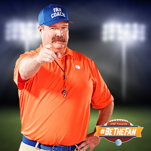 Eric Stonestreet as the Fan Coach in AT&T's #BeTheFan Promotion. Photo Credit: AT&T
