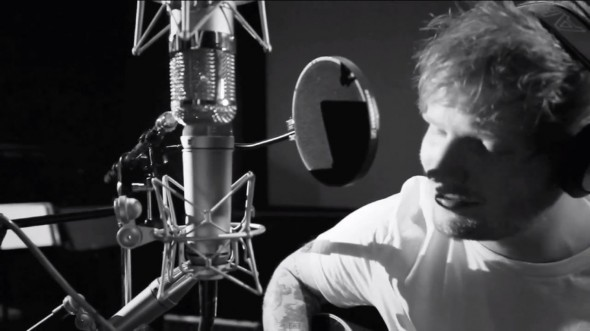 Ed Sheeran performing the song ''I See Fire' from the soundtrack to 'The Hobbit: The Desolation of Smaug.' Photo Credit: Peter Jackson/YouTube