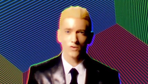 Eminem in the video for 'Rap God'. Photo Credit: Shady Records