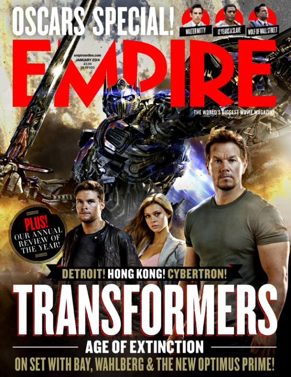 The January Cover of Empire Magazine gives us our first look at Optimus Prime from 'Transformers: Age of Extinction.' Photo Credit: Empire Magazine