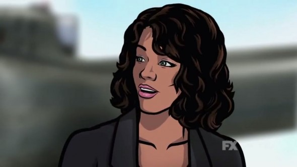 "Lana Kane in the ""Danger Zone"" promo for Season 5 of 'Archer'. Photo Credit: FX"