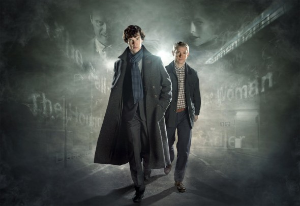 Benedict Cumberbatch and Martin Freeman as Sherlock Holmes and John Watson in 'Sherlock'. Photo Credit: BBC