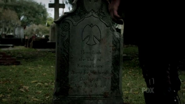 The grave of Katrina Crane in Episode 6 of 'Sleepy Hollow'. Photo Credit: Fox