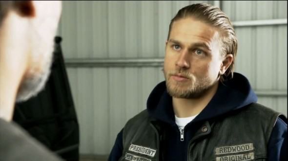 Charlie Hunnam as Jax Teller in Season 6 Episode 11 of 'Sons of Anarchy' entitled 'Aon Rud Persanta'. Photo Credit: FX