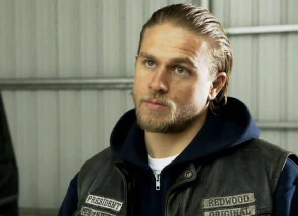 "Charlie Hunnam as Jax Teller in Season 6 Episode 11 of ""Sons of Anarchy"" entitled ""Aon Rud Persanta."" Photo Credit: FX"