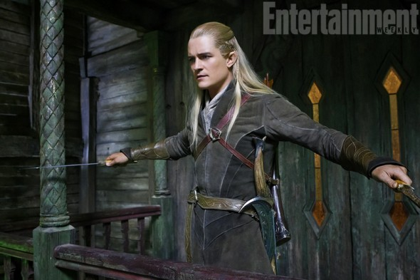 Orlando Bloom as Legolas in 'The Hobbit: Th Desolation of Smaug.' Photo Credit: Entertainment Weekly