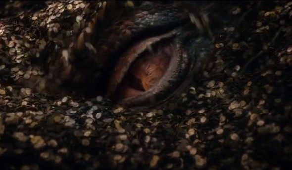 The eye of the dragon Smaug in 'The Hobbit: The Desolation of Smaug.' Photo Credit: Warner Bros.