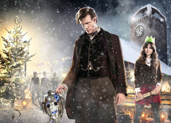 Matt Smith and Jenna Coleman as The Doctor and Clara in the 'Doctor Who' Christmas Special entitled 'The Time of the Doctor'. Photo Credit: BBC