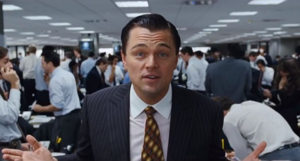 Leonardo DiCaprio as Jordan Belfort in the Martin Scorsese film 'Wolf of Wall Street'. Photo Credit: Paramount Pictures