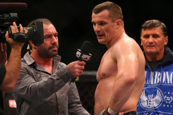 Mirko Filipovic (red) def. Anthony Perosh (blue) TKO (Doctor Stoppage) at UFC 110. Photo Credit: Daniel Herbertson, Sherdog.com