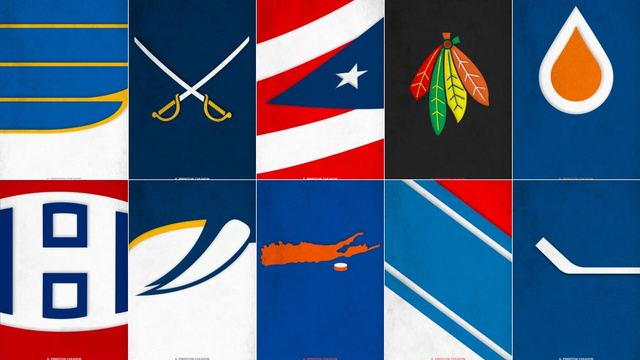 Nhl Logos Redesigned With Minimalism They Re Awesome Photos