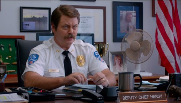 "Nick Offerman as Deputy Chif Hardy in ""22 Jump Street."" Photo Credit: Sony Pictures"