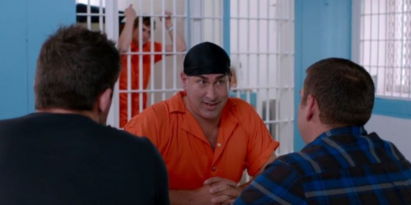 "Jenko (Channing Tatum) and Schmidt (Jonah Hill) vpay a visit to Mr. Walter (Rob Riggle) in prison in the film ""22 Jump Street."" Photo Credit: Sony Pictures"