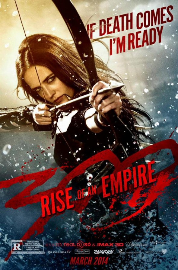 "Eva Green as Artemisia in the Promotional Poster for ""300: Rise of an Empire."" Photo Credit: Warner Bros./Legendary Pictures."