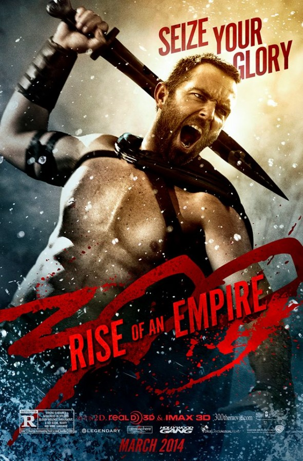 "Sullivan Stapleton as Themistocles in a character poster for the film ""300: Rise of an Empire"". Photo Credit: Warner Bros."
