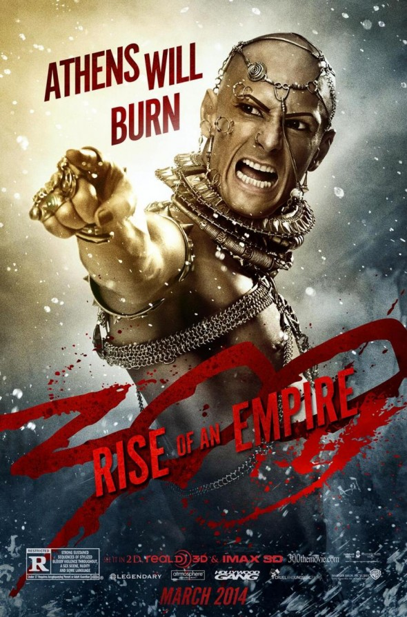 "Rodrigo Santoro as Xerxes in a character poster for the film ""300: Rise of an Empire"". Photo Credit: Warner Bros."