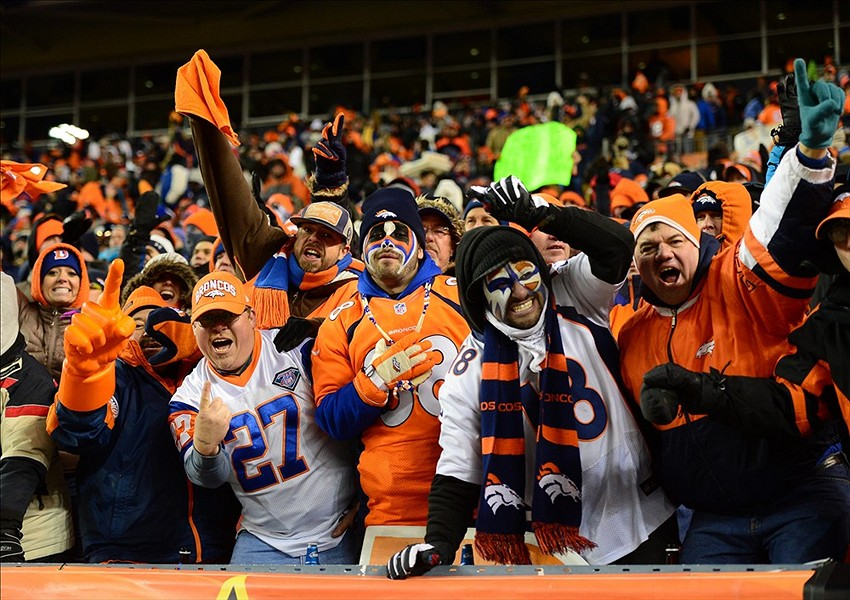 Broncos Fans Wears Horse Head Mask Neighs Like A Horse Gif