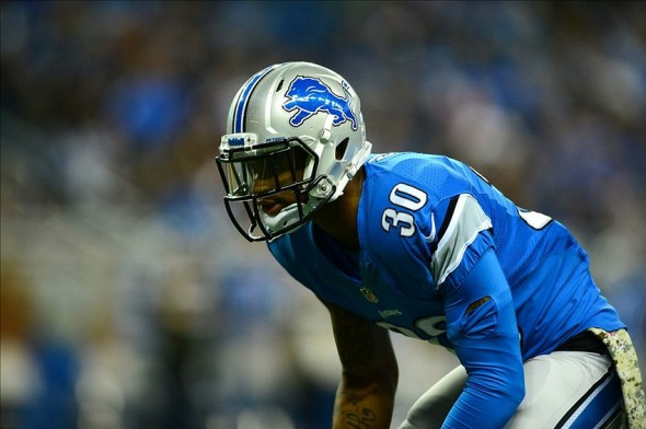 Nov 24, 2013; Detroit, MI, USA; Detroit Lions cornerback Darius Slay (30) against the Tampa Bay Buccaneers at Ford Field. Mandatory Credit: Andrew Weber-USA TODAY Sports