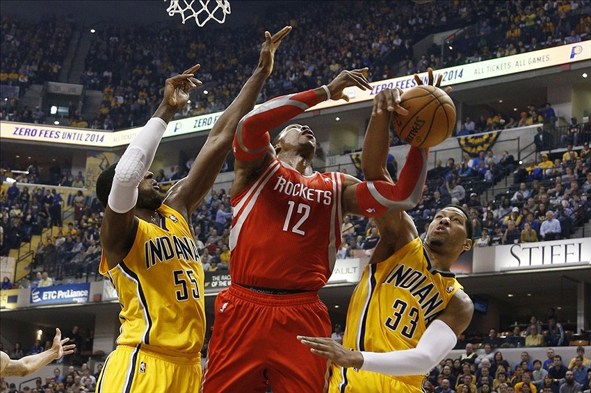 Indiana Pacers vs. Houston Rockets first half highlights (GIF)