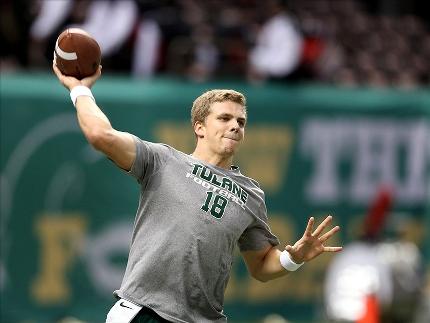 New Orleans Bowl: Tulane QB Nick Montana throws pick-six that puts ULL up 21-0 early (GIF)