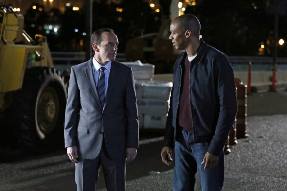 Clark Gregg and J. August Richards as Agent Phil Coulson and Mike Peterson in Episode 10 of 'Marvel's Agents of S.H.I.E.L.D.' entitled 'The Bridge.' Photo Credit: ABC/Justin Lubin