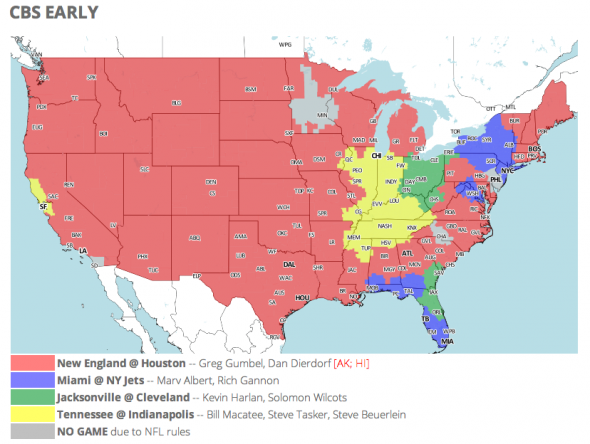 NFL TV Schedule and Coverage Map Week 13 - FanSided ...