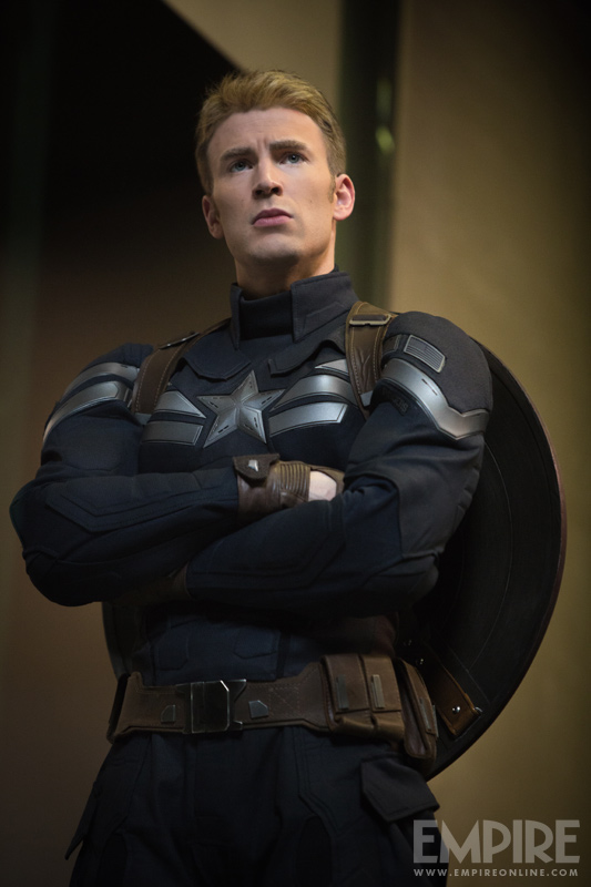 "Chris Evans as Captain America in ""Captain America: The Winter Soldier."" Photo Credit: Empire Magazine"